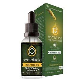 Hemplucid CBD Hemp Seed Oil 1500mg Tincture by Hemplucid