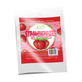 JGO CBD 5pk Strawberries and Cream Edibles 250mg  by JGO CBD