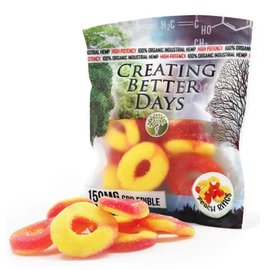 Creating Better Days CBD Gummy Peach Rings 150mg by Creating Better Days