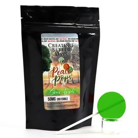 Creating Better Days CBD Lollipop Sour Apple 50mg by Creating Better Days