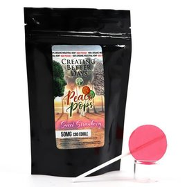 Creating Better Days CBD Lollipop Sweet Strawberry 50mg by Creating Better Days