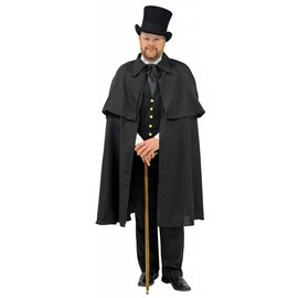 Underwraps Dickens Cape, Black - Adult by Underwraps