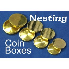 India Nesting Coin Boxes, Brass - India