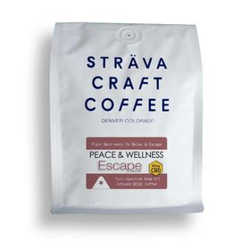 Strava Craft Coffee CBD Decaf Coffee - Escape 60mg 12oz by Strava Craft Coffee