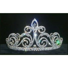 Rhinestone Jewelry Corporatrion Braziliana Tiara 3.5 inch