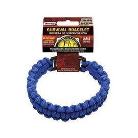 Survival Bracelet - Large, Blue by SecureLine