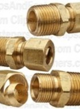 "3/16"" Brass Connector Assembly (Single Assembly)"