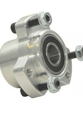 "Premier Manufacturing Front Hub Kit w/ 5/8"" bearings & hardware (mill finish)"