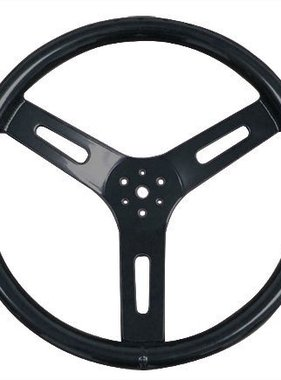 "12"" Alum Steering Wheel (Black powder coat)"