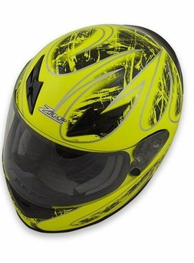 Zamp Zamp FS-8 Helmet (Graphic Green/Black, Large)