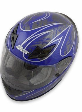 Zamp Zamp FS-8 Helmet (Graphic Blue/Silver, Small)