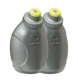 Nathan Sports Nathan 10oz PP Flask 2pk Silver/SS