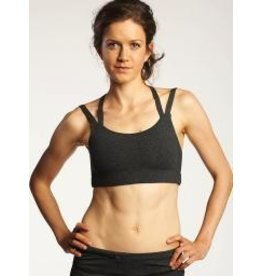 Oiselle Running, Inc Oiselle Charcoal Strappy Bra