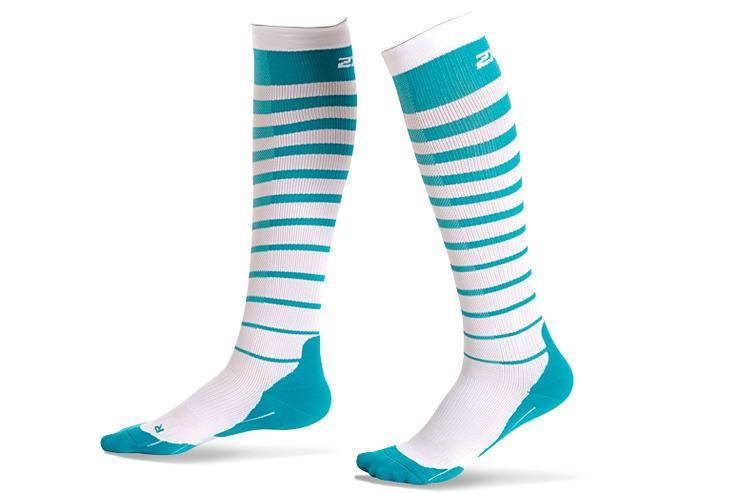 2XU North America 2XU Striped Run Compression Socks W