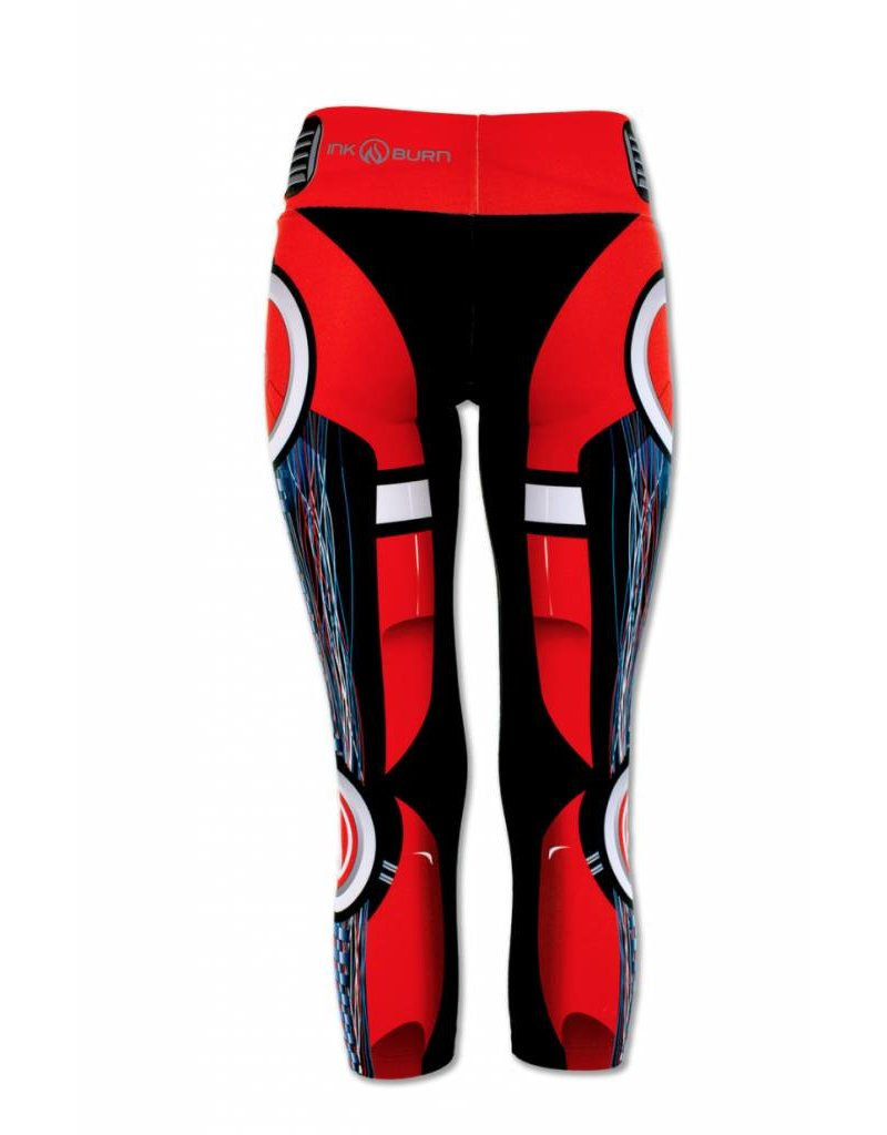 InknBurn INKnBURN Capris - Red Robot - The Ultra Running Company