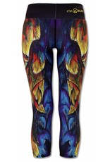 InknBurn INKnBURN Capris - Painted Feather