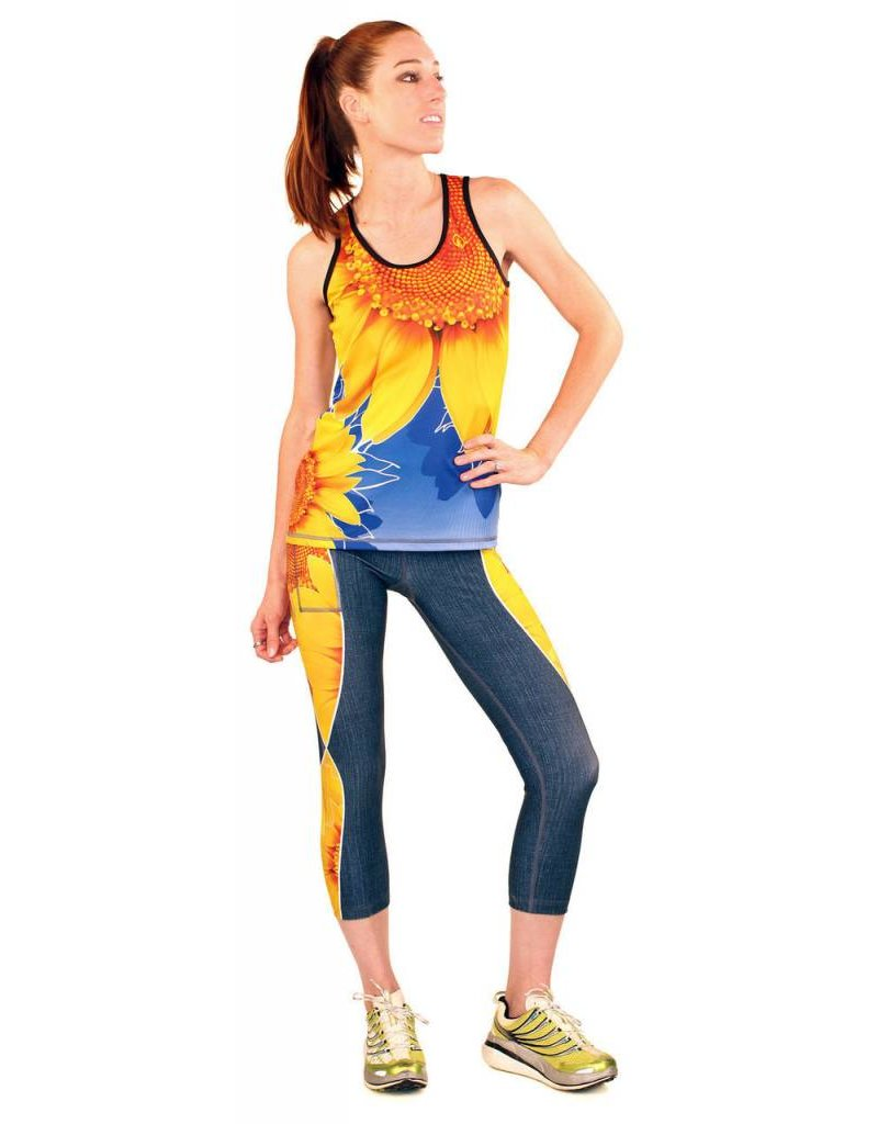 InknBurn INKnBURN Capris - TBT Sunflower