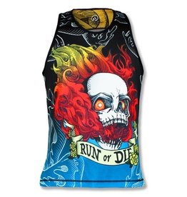 "InknBurn InB ""Run Or Die Fire Skull Singlet (M)"" (Waitlist)"