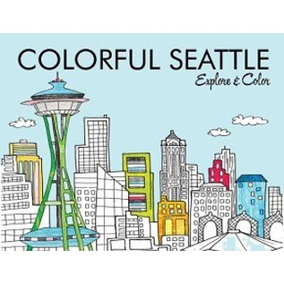 Colorful Cities Seattle Coloring Book