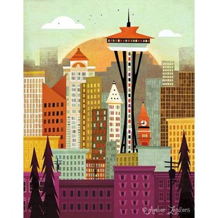 Amber Leaders Amber Leaders Seattle Print
