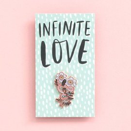 Hello Lucky / Egg Press Infinity Snake Enamel Pin