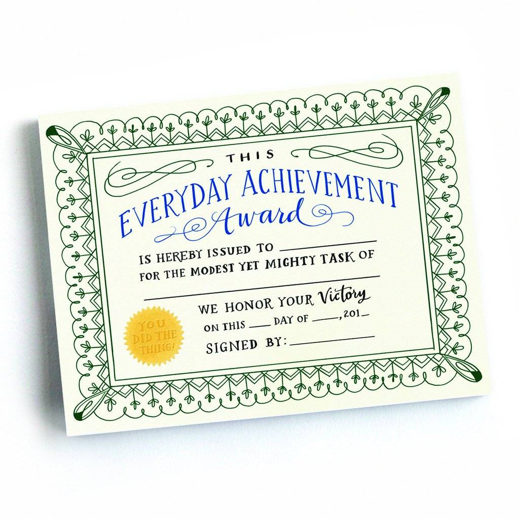 achivement certificates