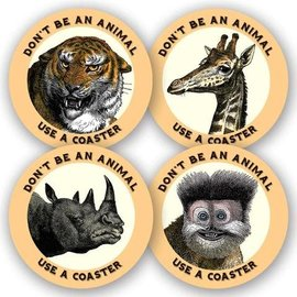 Mincing Mockingbird Wild Animals Coaster Set
