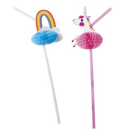 Party Partners Unicorn & Rainbow Straw Set