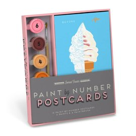 Knock Knock Paint By Number Postcards