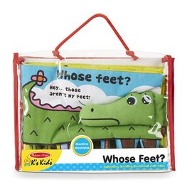 Melissa & Doug DNR Cloth Book - Whose Feet?