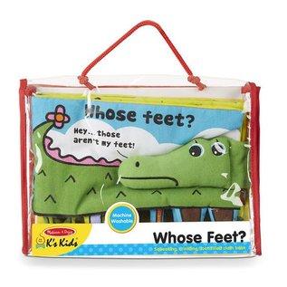 Melissa & Doug DNR Cloth Book - Whose Feet?