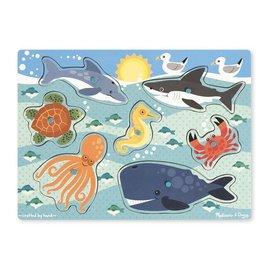 Melissa & Doug Peg Puzzle Sea Creatures