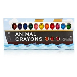 NPW (Worldwide) Animal Crayons 12 Pack