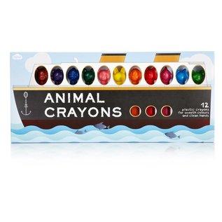 NPW (Worldwide) DISC Animal Crayons 12 Pack