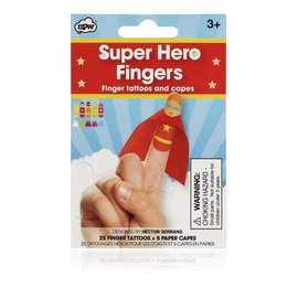 NPW (Worldwide) Superhero Finger Tattoos