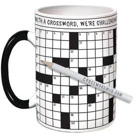 Unemployed Philosophers Guild Crossword Puzzle Mug