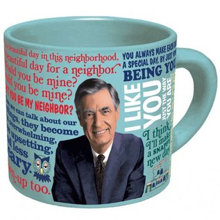 Unemployed Philosophers Guild Mister Rogers Changing Sweater Mug