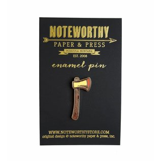 Noteworthy Paper & Press Axe Enamel Pin