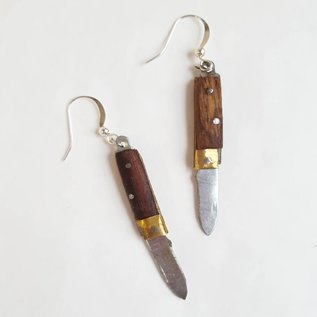 Zoo Brat Folding Knife Earrings