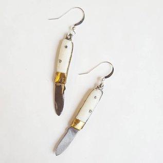 Folding Knife Earrings