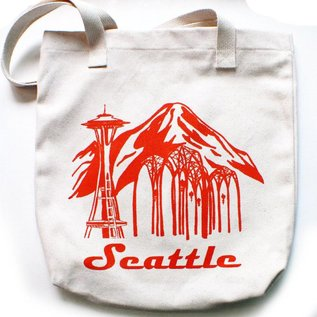 Little Orange Room Seattle Space Needle Tote