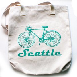 Little Orange Room Seattle Bicycle Tote