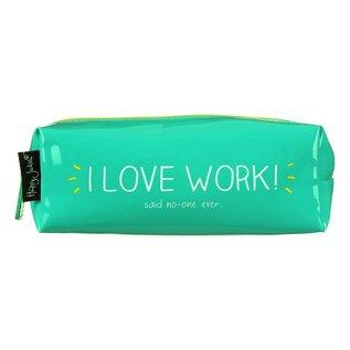 Wild & Wolf Inc. I Love Work Pencil Case