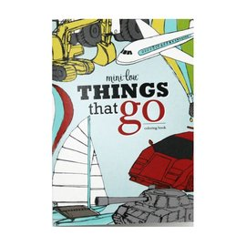 MiniLou Coloring Book - Things That Go