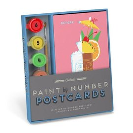 Knock Knock Cocktail Paint-by-Number Postcards