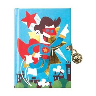 Chronicle Books SALE Lock Diary - Superhero