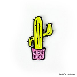 Band of Weirdos High Five Cactus Enamel Pin