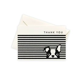 Seltzer Dog Stripe Thank You Notes