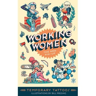 Chronicle Books Working Women Temporary Tattoos