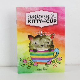 MiniLou Unicorn Kitty In A Cup Coloring Book